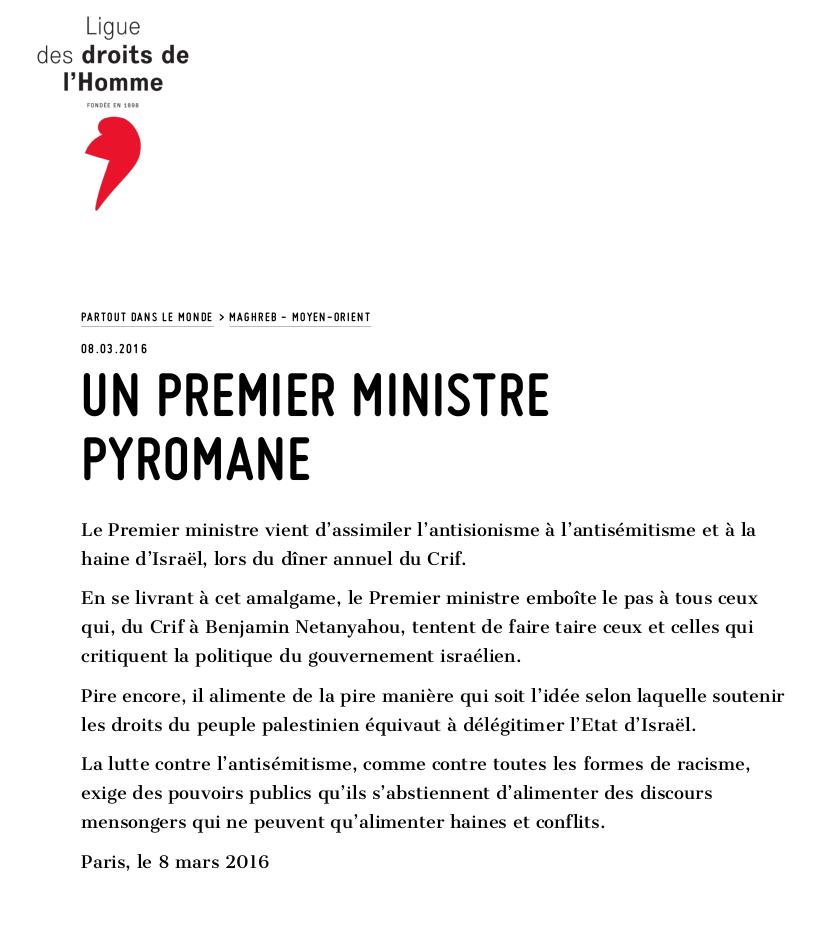 Un premier ministre pyromane