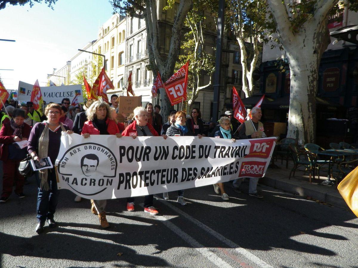 Belle mobilisation ce 10 octobre  à Avignon pour la défense de la fonction publique