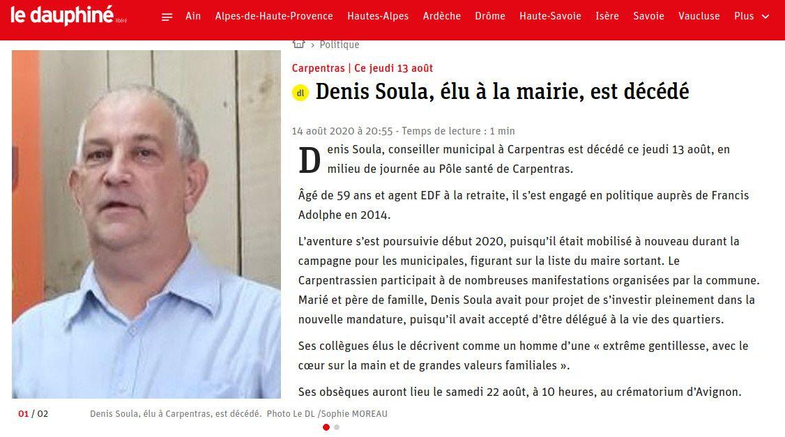 Denis Soula, un compagnon et ami, nous a quittés.