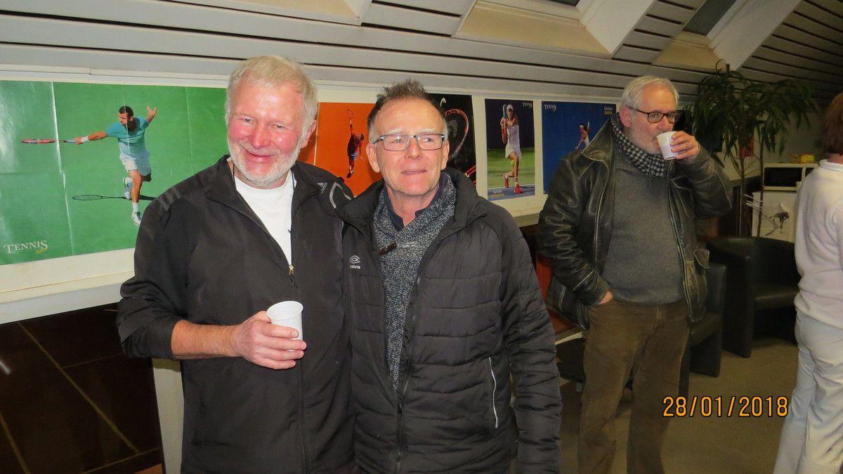 Nostalgie ... Dominique Neel et Olivier Perret qui se sont rencontrés sur tous les tournois de France et de Navarre pendant un demi siècle !