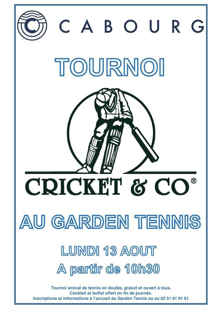 TOURNOI CRICKET & CO