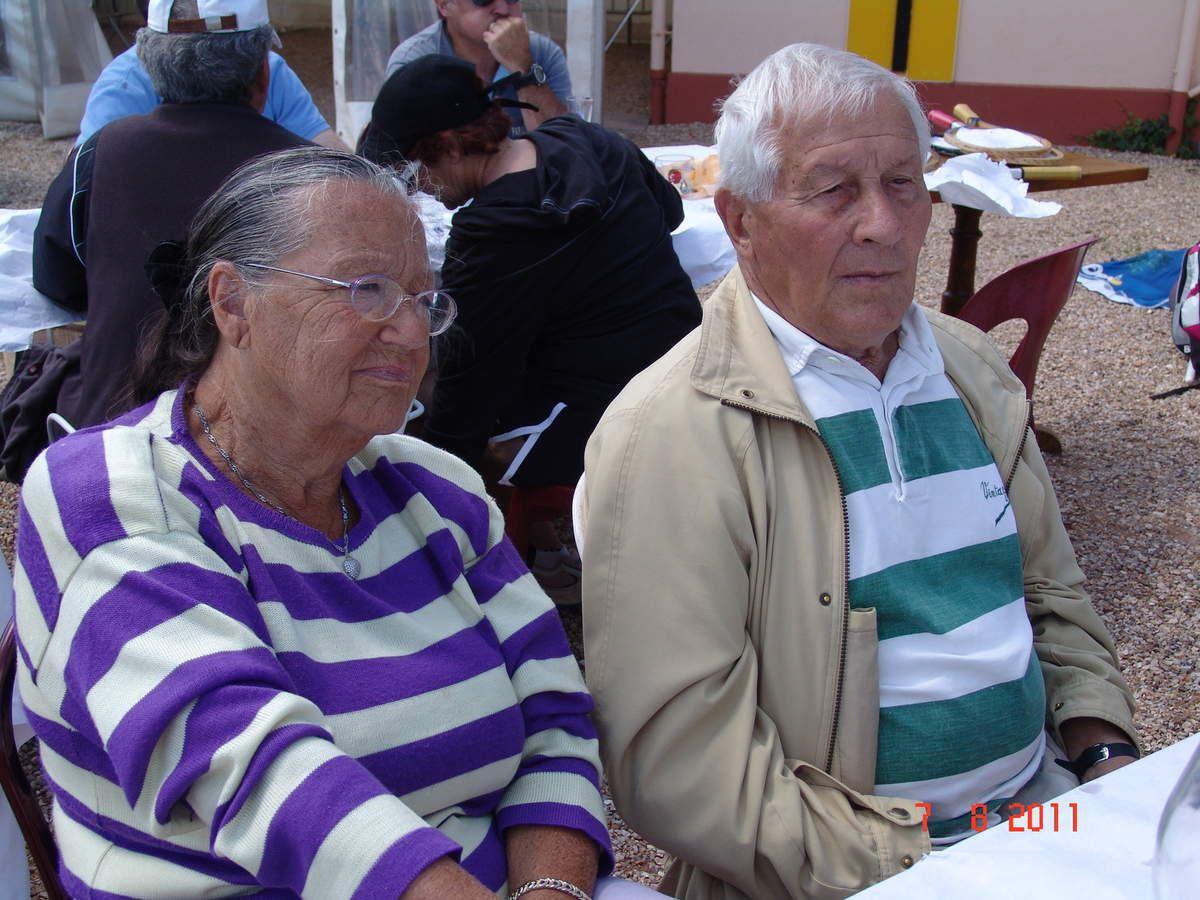 Repas doubles surprises août 2011 avec Lili son épouse