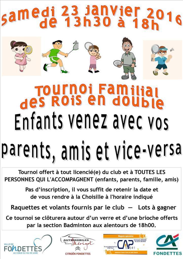 Tournoi Familial des Rois : 23/01/16
