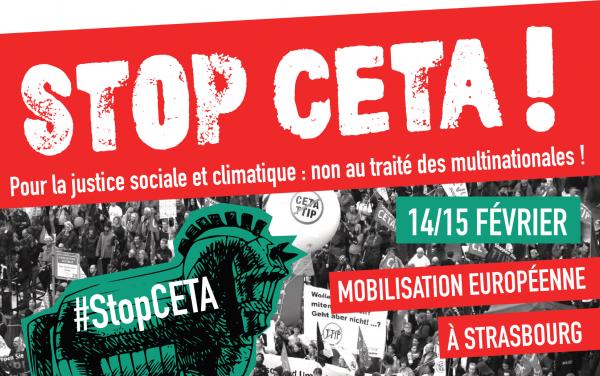 Tou⋅te⋅s à Strasbourg pour stopper le vote du CETA !