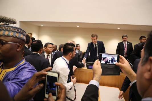 Emmanuel Macron, le 19 septembre à New York. LUDOVIC MARIN / AFP