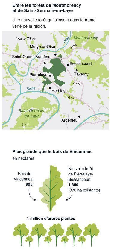 Une forêt d'un million d'arbres va être créée dans le Val-d'Oise