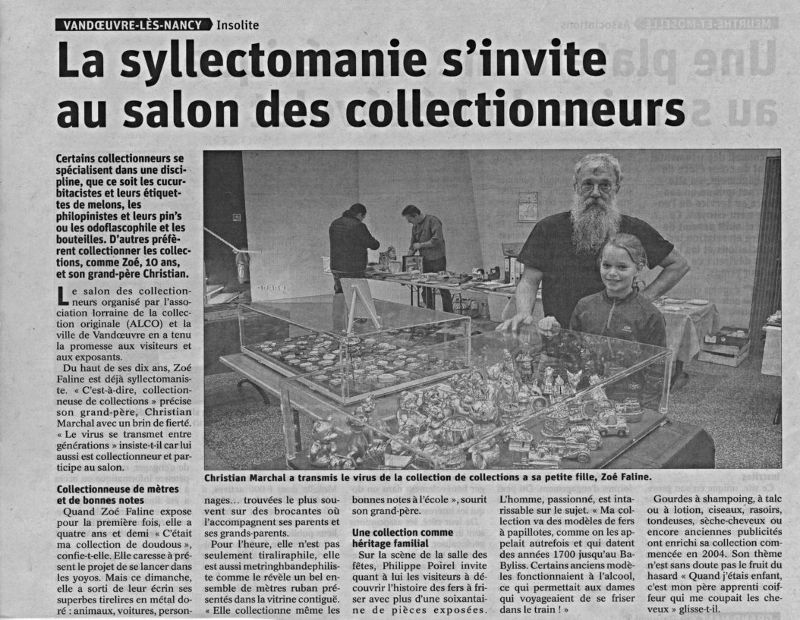Les syllectomanie s'invite au salon des collectionneurs