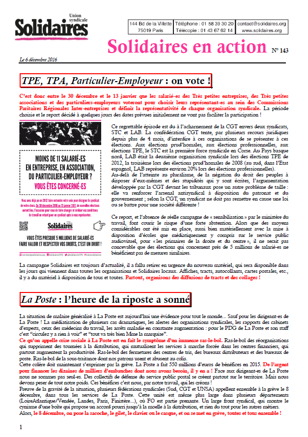 solidaires en action N°143