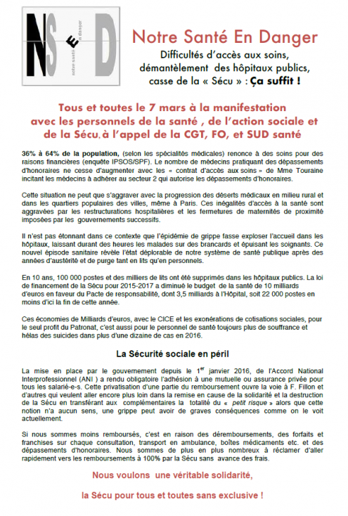 Rencontre syndicat gouvernement
