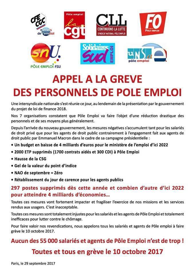 10 octobre: Fonction Publique en grève, convergence Public Privé !