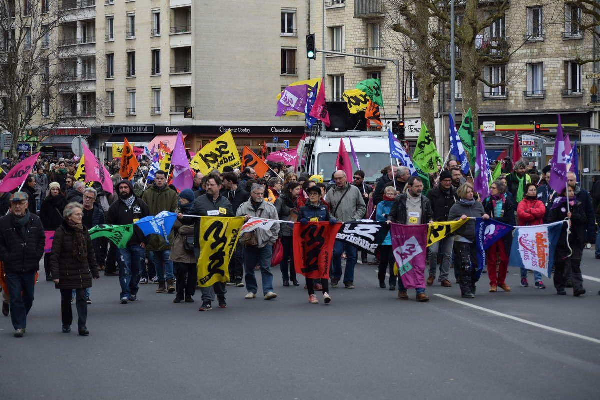 Manif Caennaise du 22 mars en images