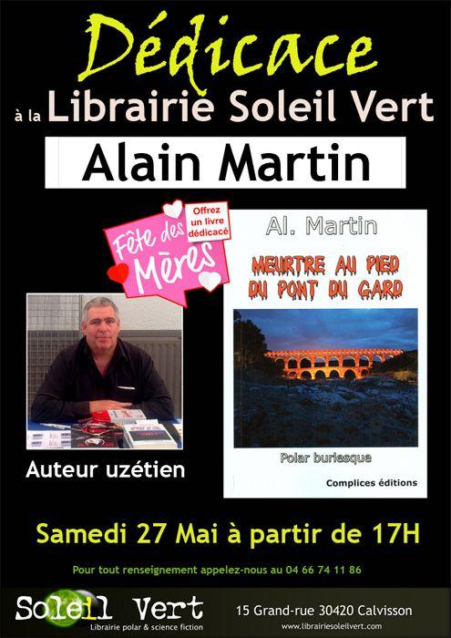 Rappel, c'est demain ! Alain Martin à la librairie le samedi 27 mai à partir de 17h