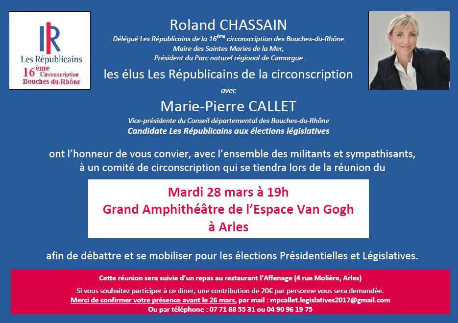 Comité de circonscription le Mardi 28 mars