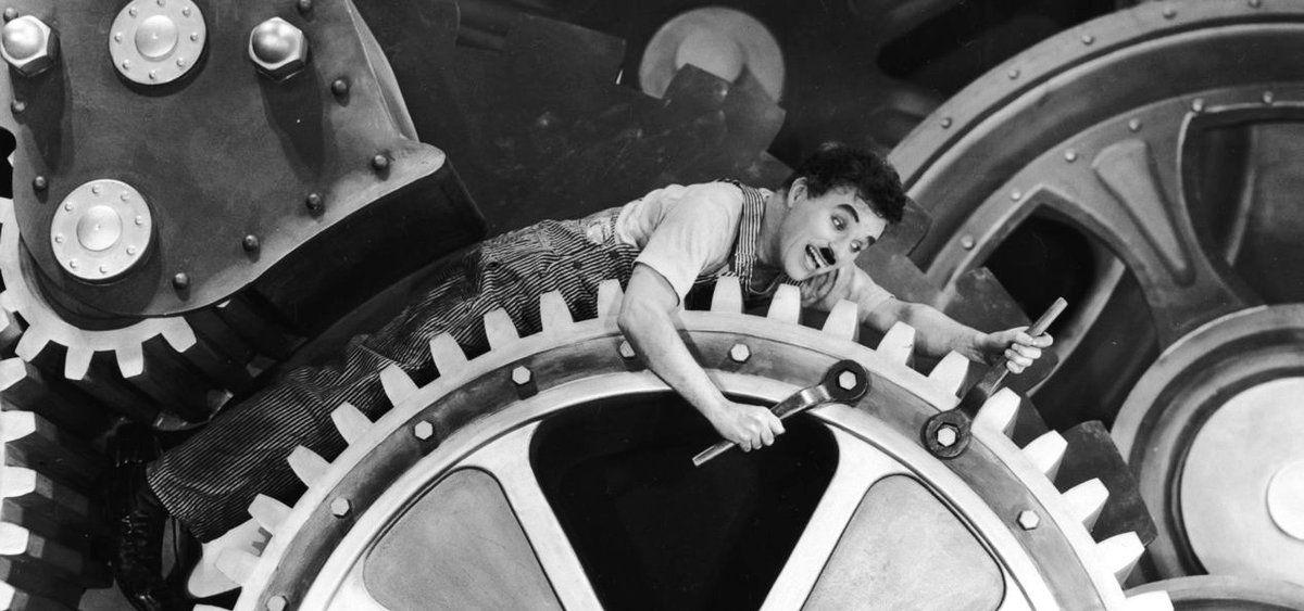 Charlie Chaplin, Les Temps Modernes (1936)