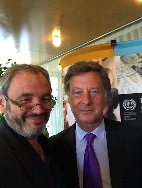 Gilles d'ARONDELsecrétaire FO Accor et membre du comité Européen avec Sébastien BAZIN