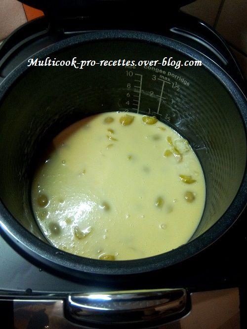 cuisson clafoutis aux mirabelles, au multicuiseur