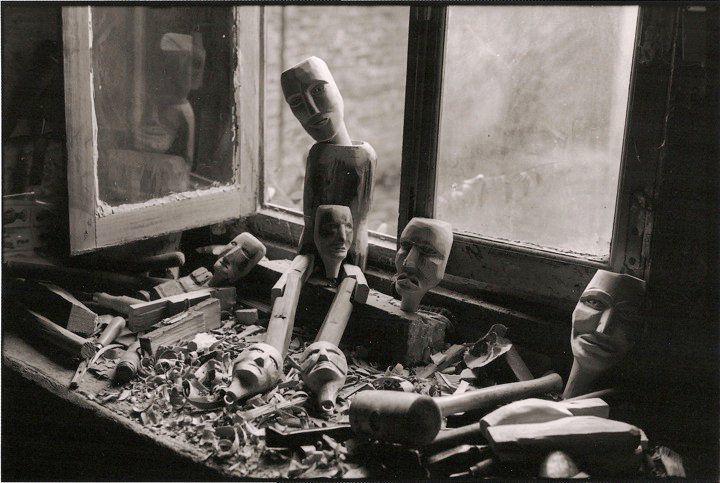 Amiens. L'atelier de Jean-Pierre Facquier. Fin des années 70. © Jean-Louis Crimon