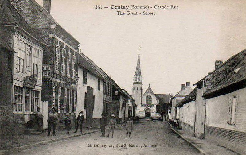Contay. Grande Rue. The Great street. © G. Lelong.