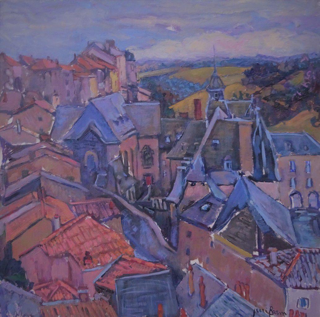 Les toits de Saint-Flour. Jerri Bram. © Jean-Louis Crimon