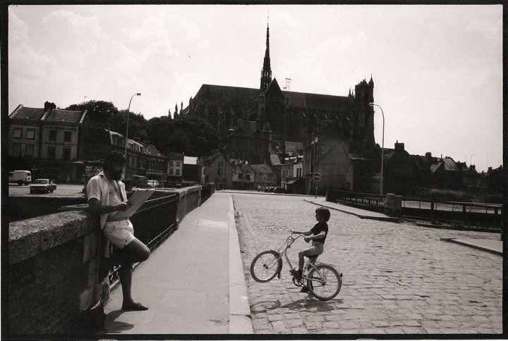 Amiens. Pont de la Dodane. Juillet 1981. © Jean-Louis Crimon