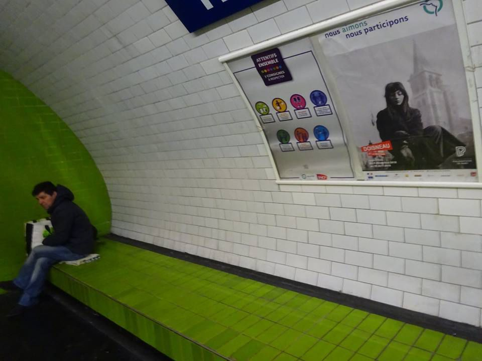Paris. Métro Trocadéro. Avril 2019. © Jean-Louis Crimon
