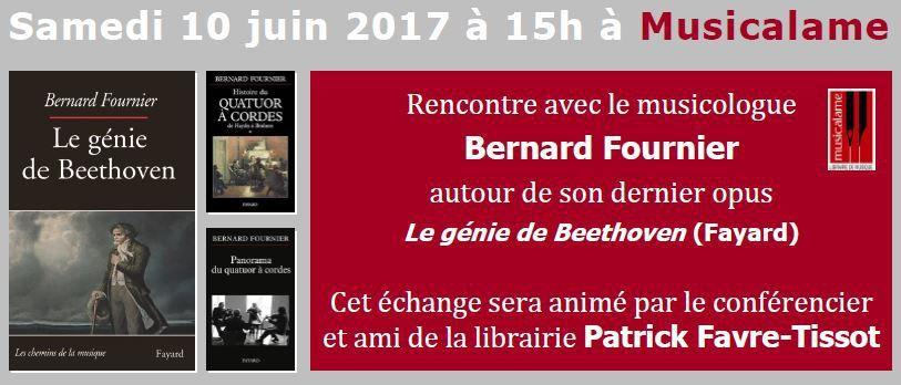 Rencontre avec Bernard Fournier autour du génie de Beethoven