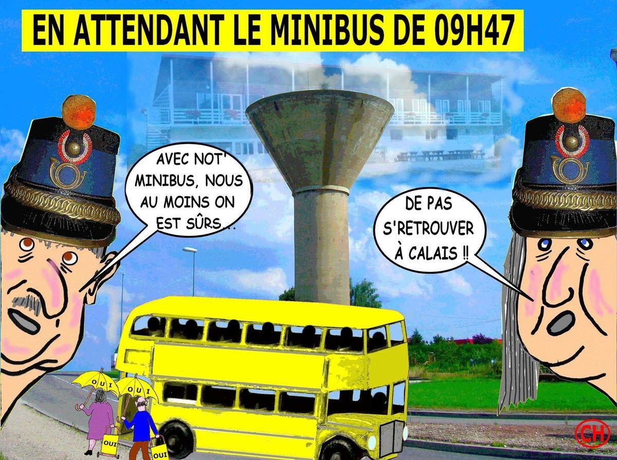 En attendant le minibus de 9H47