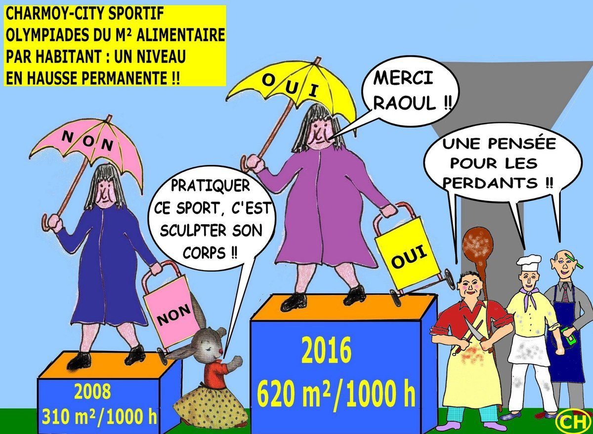 Olympiades du m² alimentaire à Charmoy-City