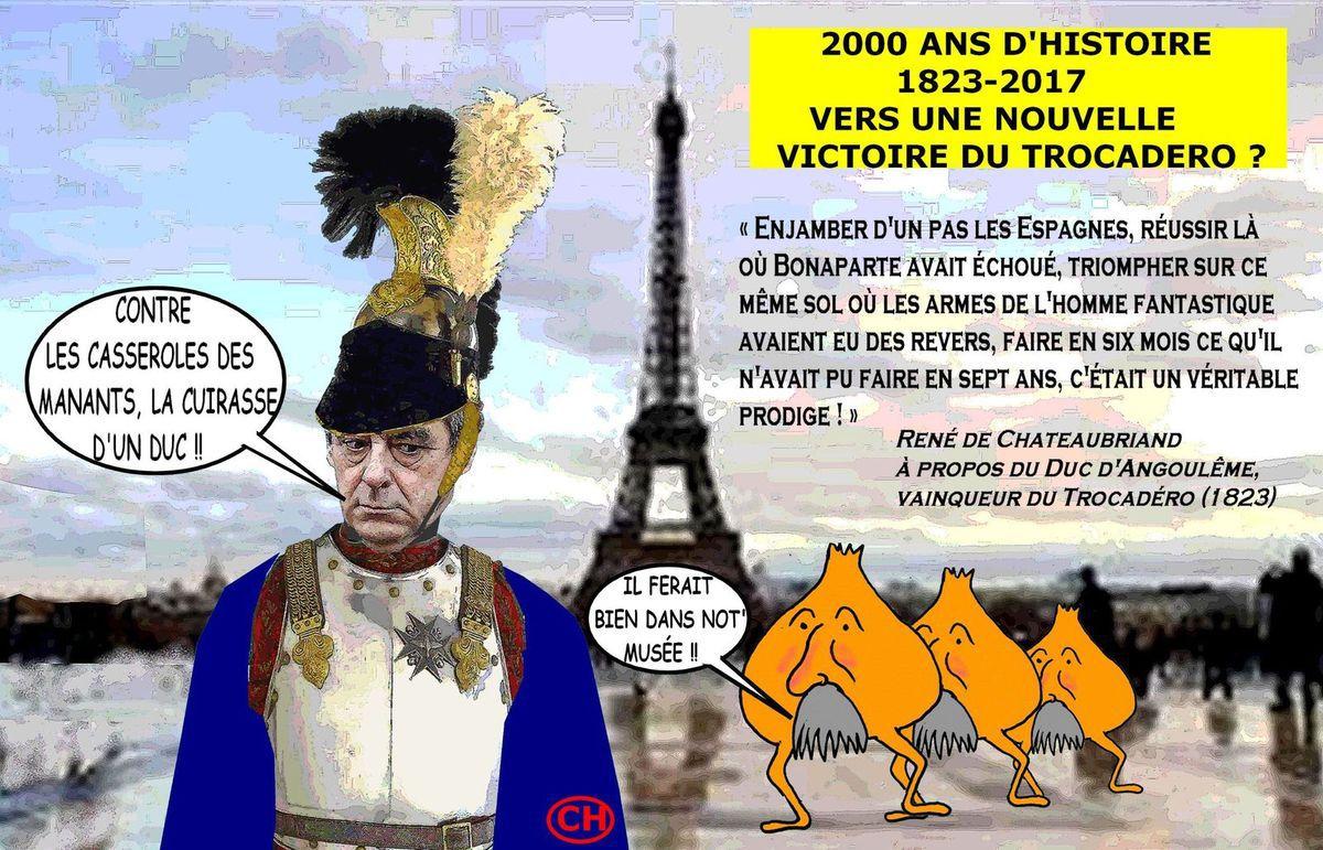 Cuirasse contre casseroles au Trocadéro