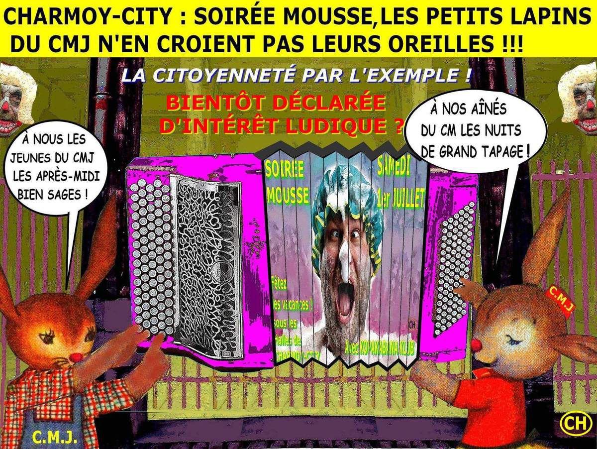 Les Soirées-mousse  de Charmoy-City bientôt déclarées d'intérêt ludique