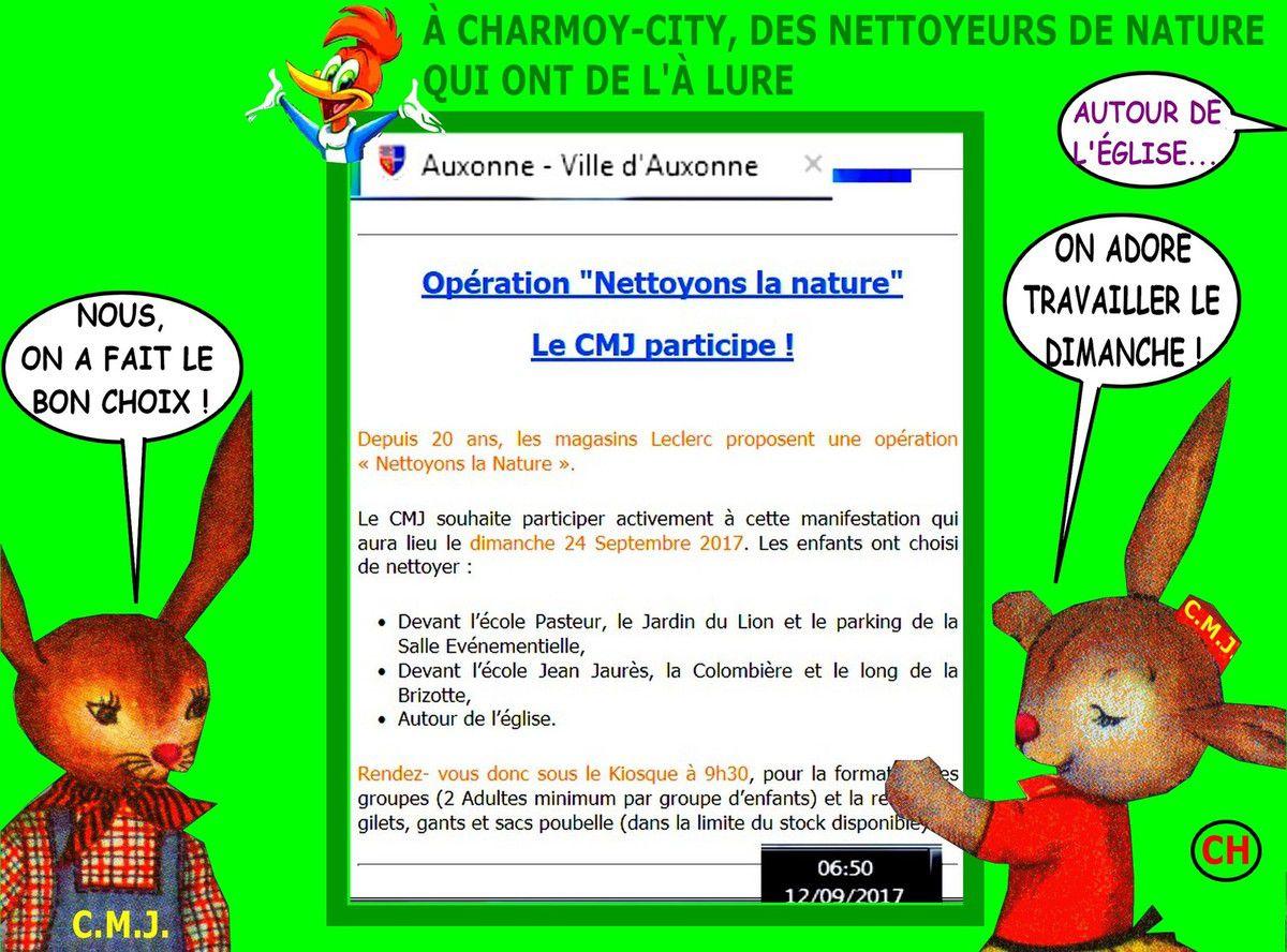 A Charmoy-City des nettoyeurs de nature qui ont de l'à Lure