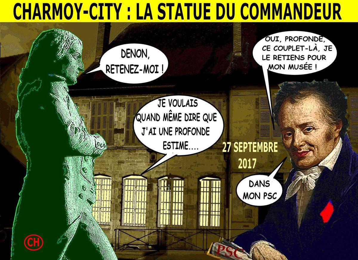 Charmoy-City, le PSC et la statue du Commandeur