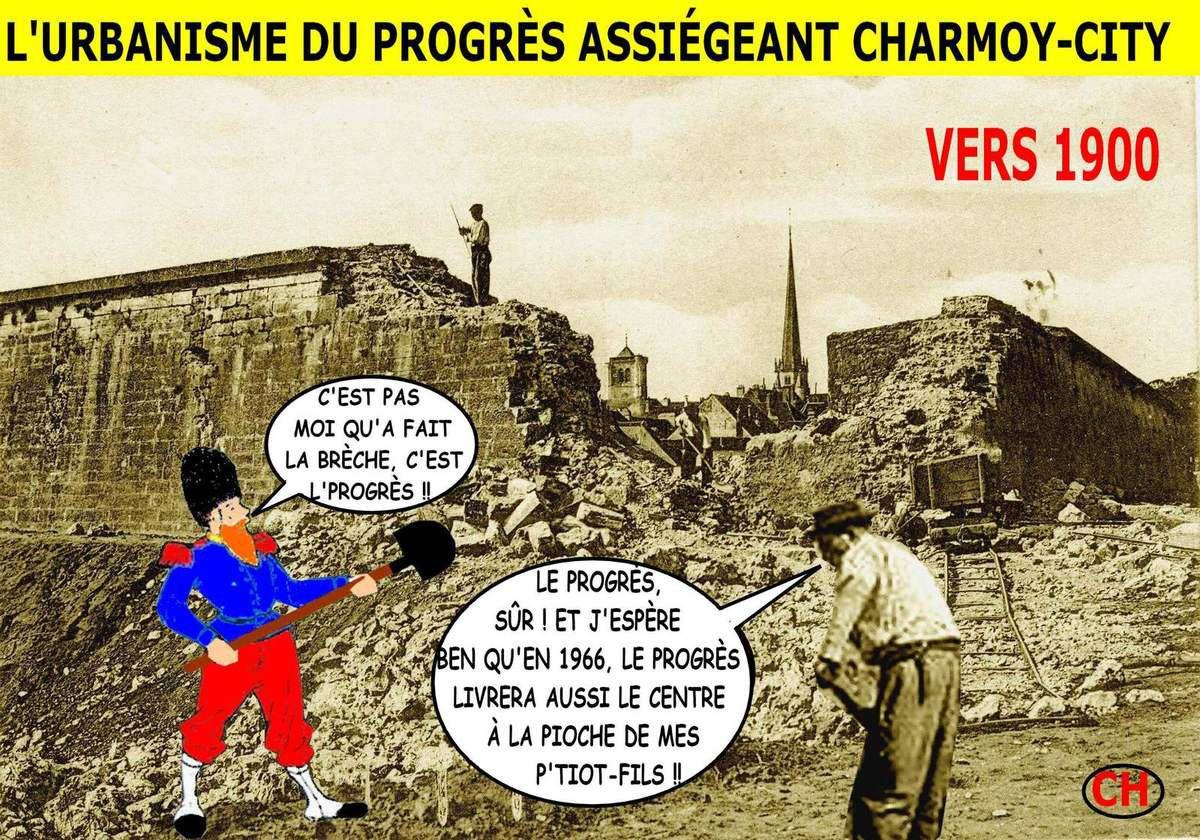 L'urbanisme du progrès assiégeant Charmoy-City