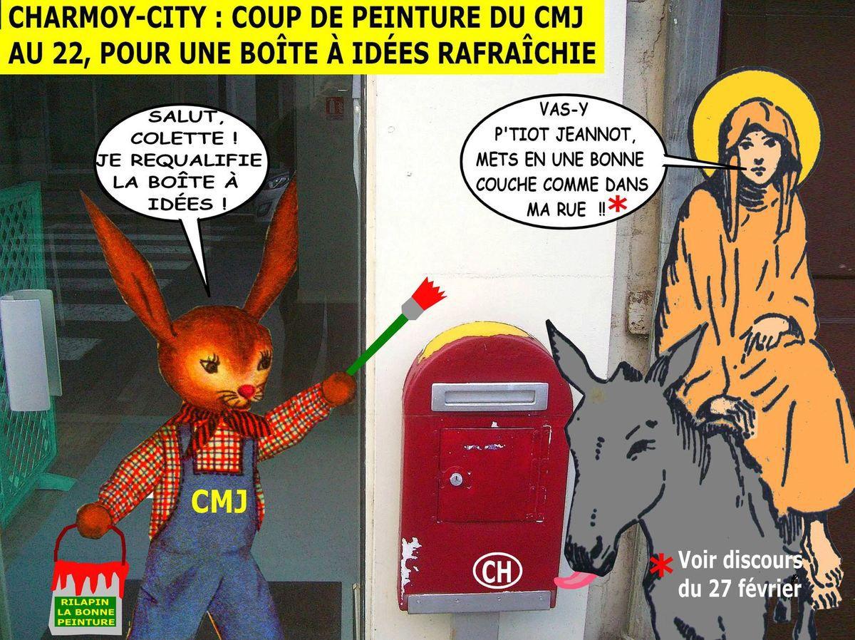 Charmoy-City, coup de peinture du CMJ au 22 rue Thiers
