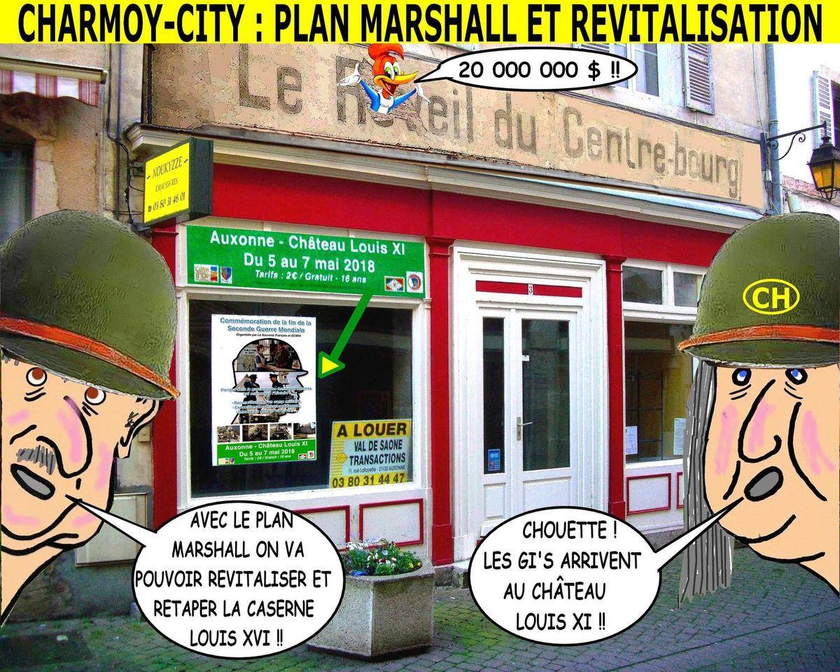 Charmoy-City, plan Marshall et revitalisation