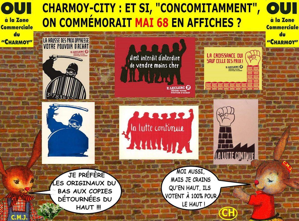 Charmoy-city, commémorer concomitamment mai 68 en affiches