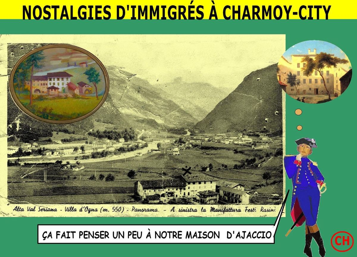 Nostalgies d'immigrés à Charmoy-city-Contrada Candrietti