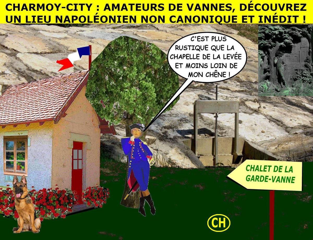 Charmoy-City : Bonaparte, le chêne et la vanne