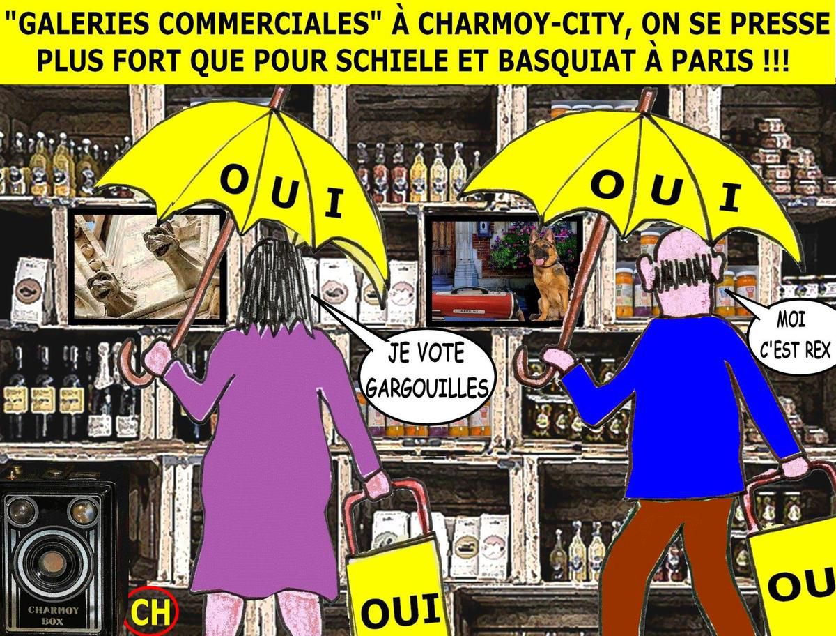 """Galeries commerciales"" à Charmoy-City : plus fort que Schiele et Basquiat"