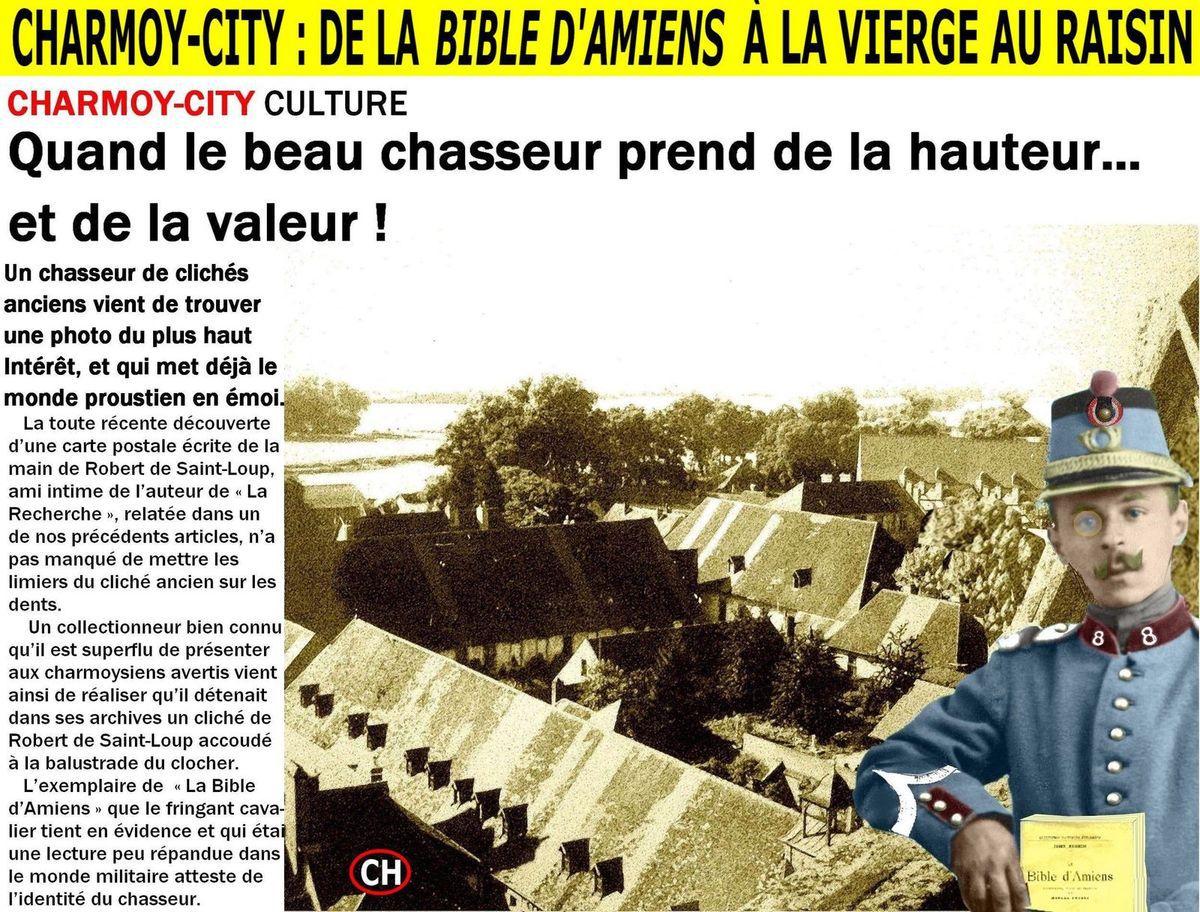 """Charmoy-City : de """"La Bible d'Amiens""""(dans la Somme) à la Vierge au Raisin"""