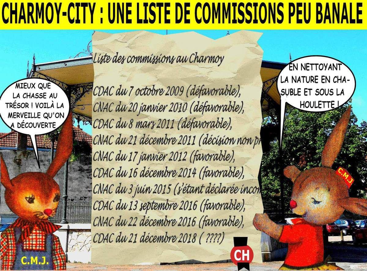 Charmoy-City : une liste de commissions peu banale