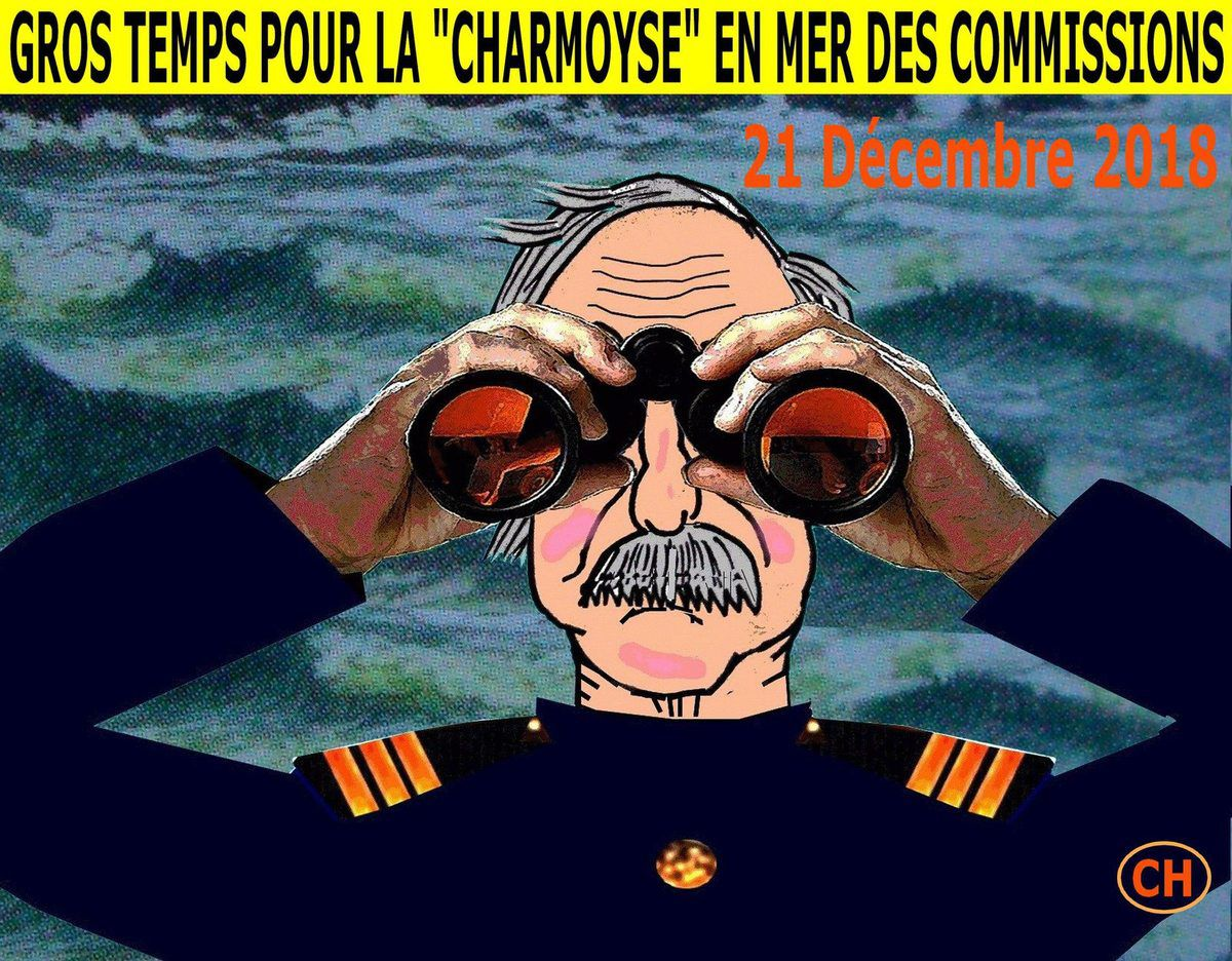 Gros temps pour la Charmoyse en mer des commissions