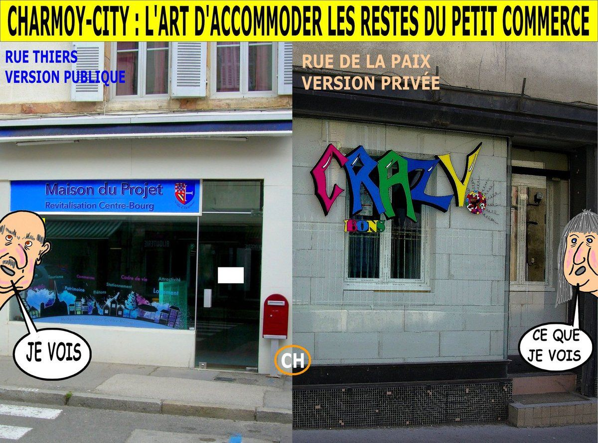 Charmoy-City, l'art d'accommoder les restes du petit commerce