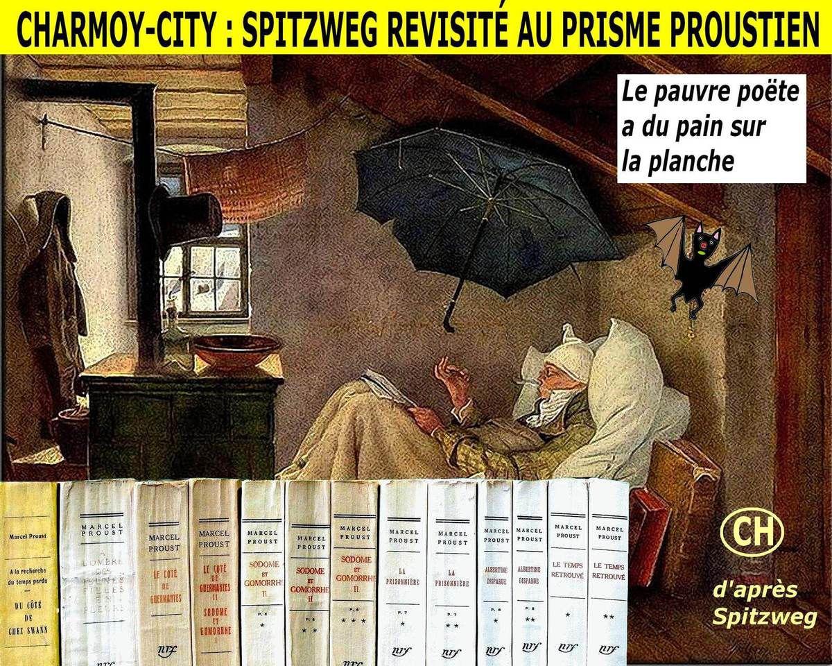 Charmoy-City, Spitzweg revisité au prisme proustien