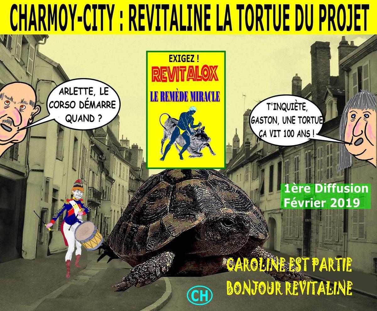 Charmoy-City, Revitaline, la tortue du projet