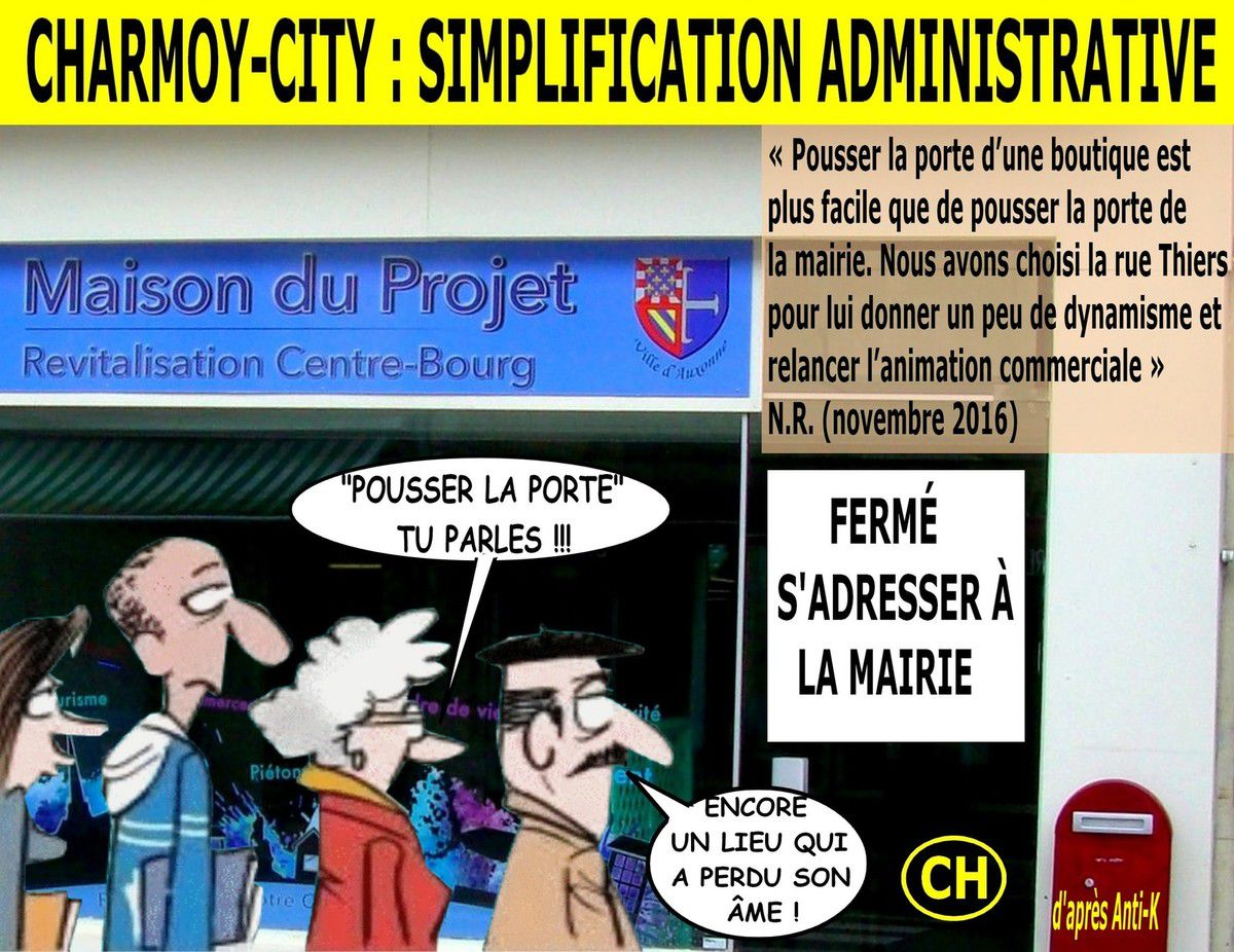 Charmoy-City, simplification administrative