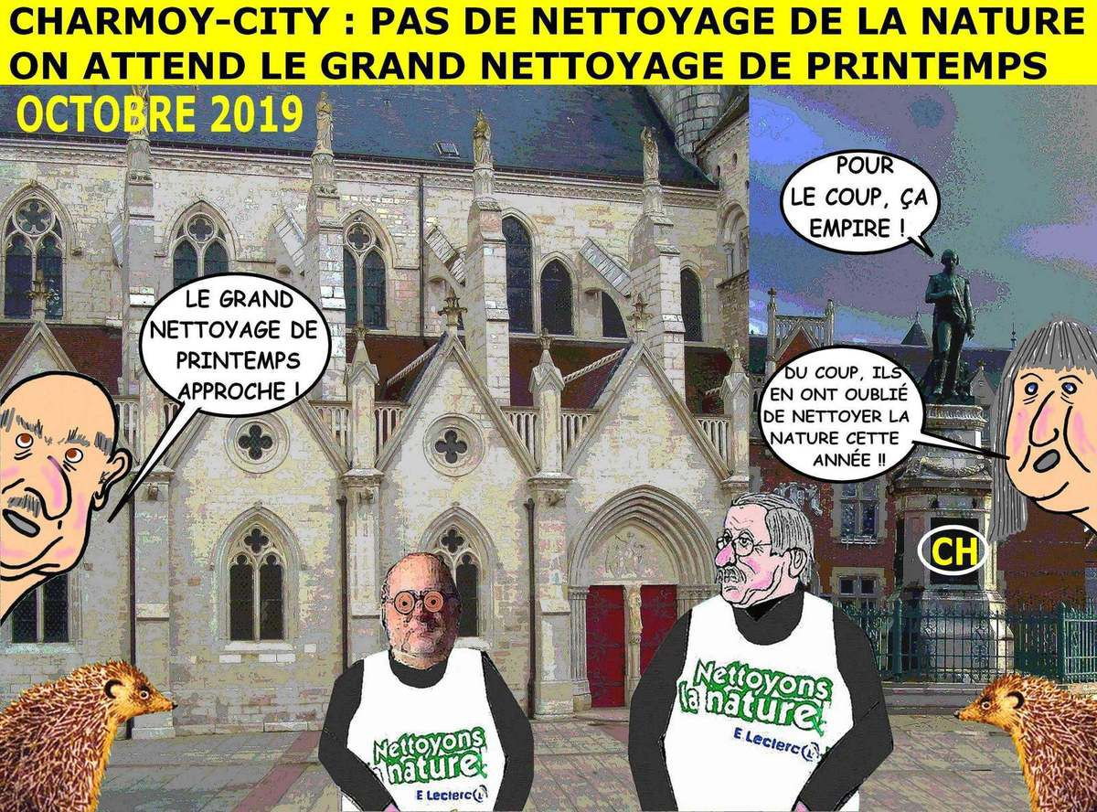 Charmoy-City, pas de nettoyage de la nature, on attend