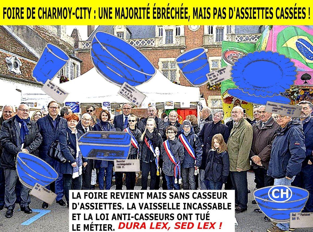 Foire de Charmoy-City, une majorité ébréchée, mais pas d'assiettes cassées