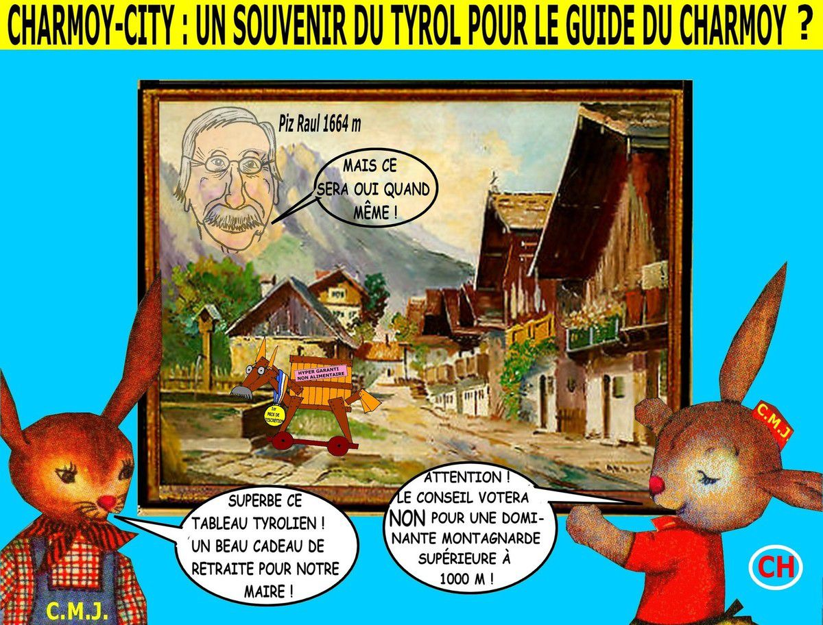 Charmoy-City, un souvenir du Tyrol pour le guide du Charmoy