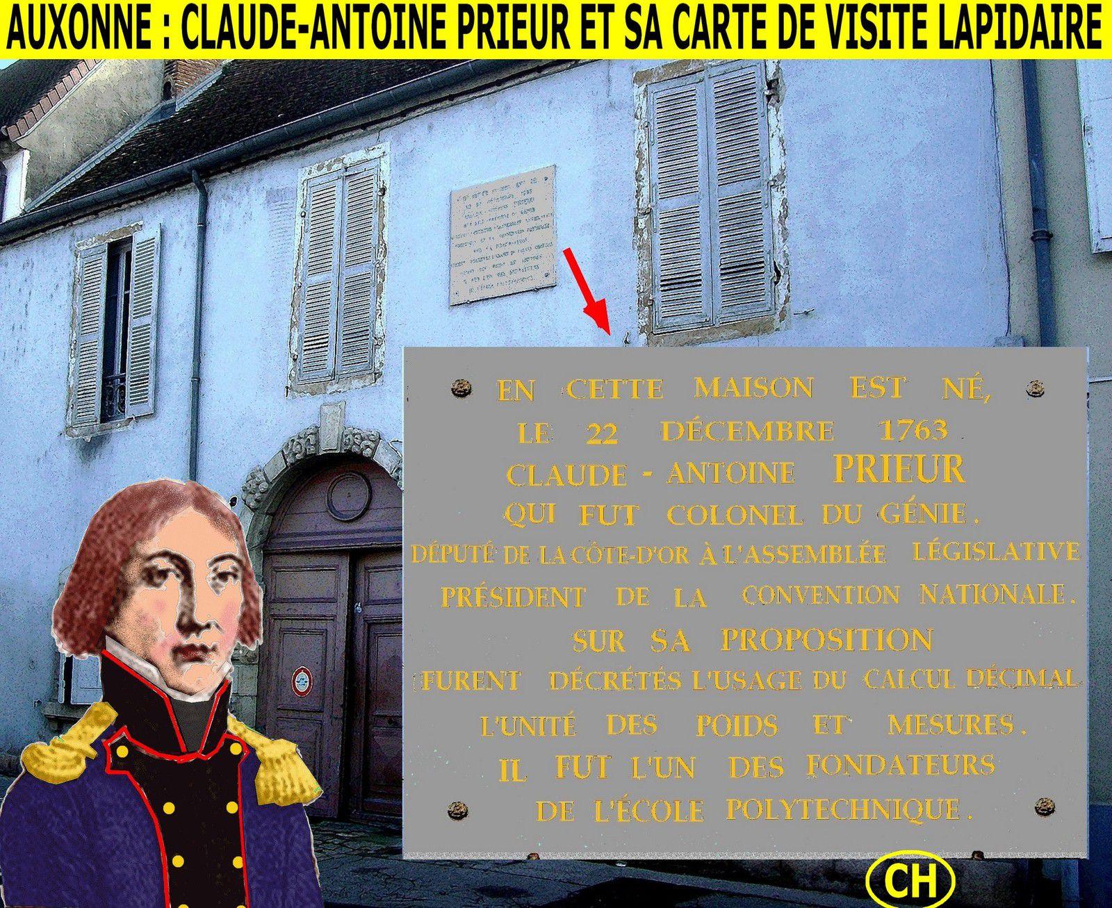Auxonne, Claude-Antoine Prieur et sa carte de visite lapidaire.jpg